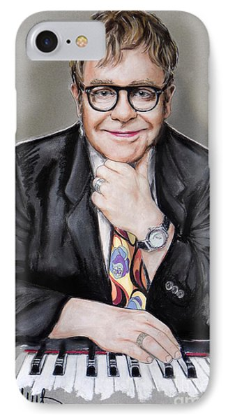 Elton John IPhone Case by Melanie D