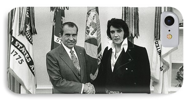 Elvis And Nixon IPhone Case by Unknown