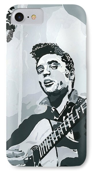 Elvis At Sun Phone Case by Suzanne Gee