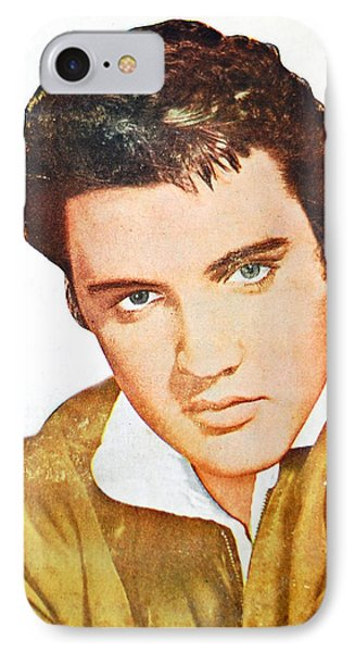 Elvis Colored Portrait IPhone Case by Gina Dsgn