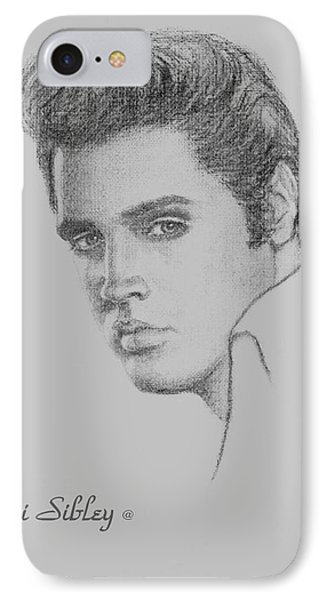 Elvis In Charcoal IPhone Case