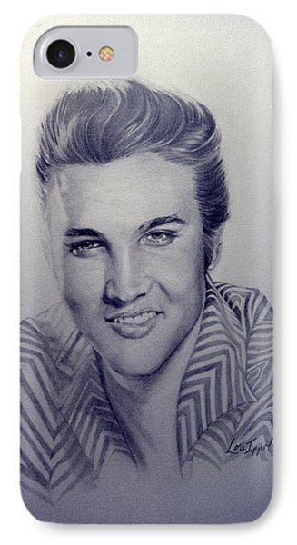 IPhone Case featuring the drawing Elvis by Lori Ippolito