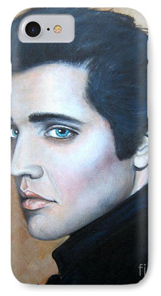 IPhone Case featuring the painting Elvis by Patrice Torrillo