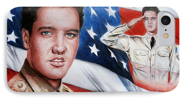 Elvis Patriot  Phone Case by Andrew Read