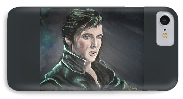 IPhone Case featuring the mixed media Elvis by Peter Suhocke
