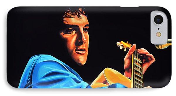 Rhythm And Blues iPhone 7 Case - Elvis Presley 2 Painting by Paul Meijering