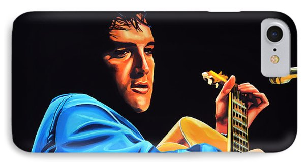Elvis Presley 2 Painting IPhone 7 Case by Paul Meijering