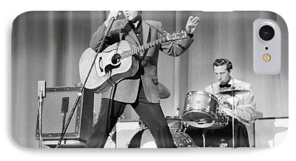 Elvis Presley And D.j. Fontana Performing In 1956 IPhone 7 Case by The Harrington Collection
