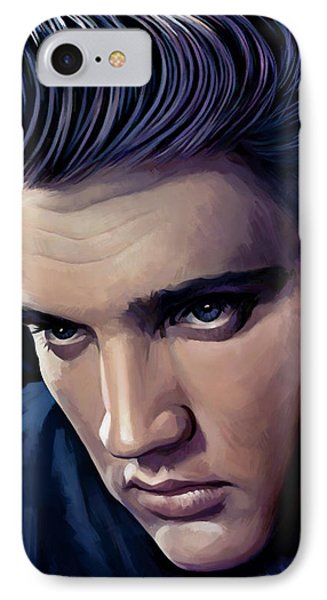 Elvis Presley Artwork 2 Phone Case by Sheraz A