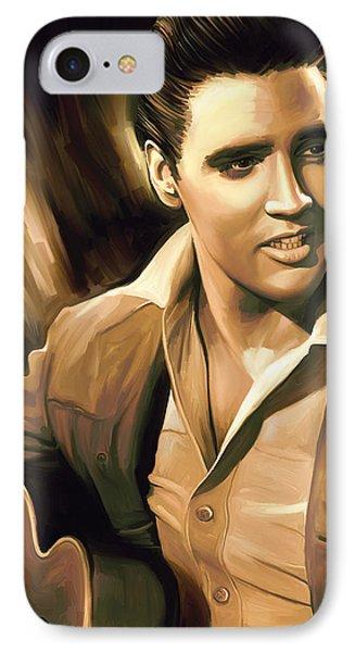 Elvis Presley Artwork IPhone Case by Sheraz A