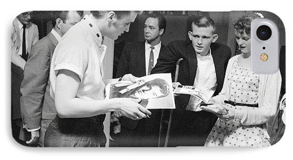 Elvis Presley Backstage Signing Autographs For Fans 1956 IPhone Case