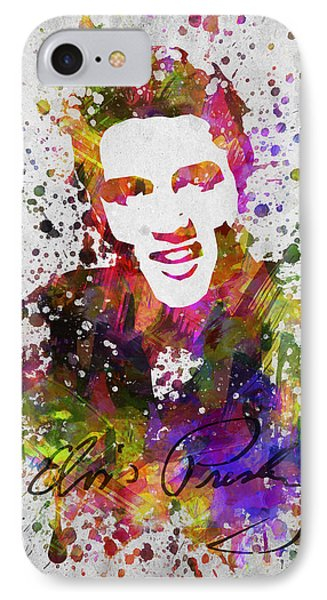 Elvis Presley In Color IPhone 7 Case by Aged Pixel