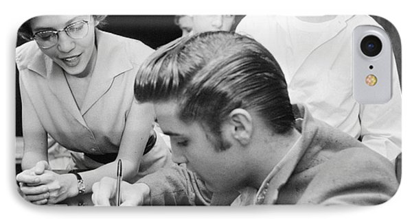 Elvis Presley Meeting Fans 1956 IPhone Case