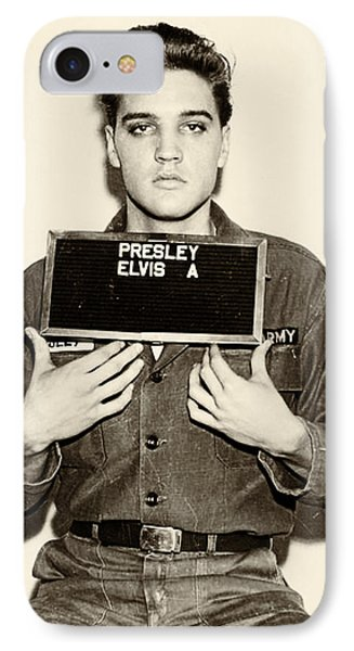 Elvis Presley - Mugshot IPhone 7 Case by Bill Cannon