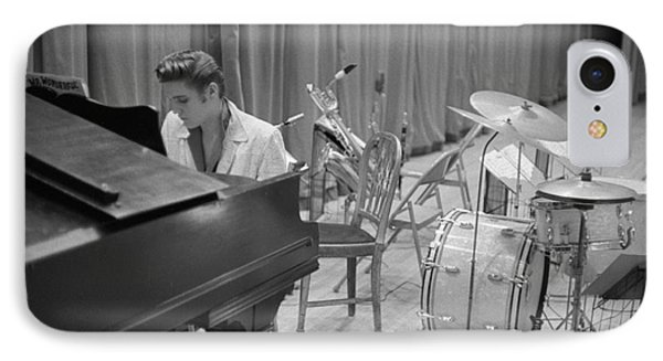 Elvis Presley On Piano Waiting For A Show To Start 1956 IPhone Case
