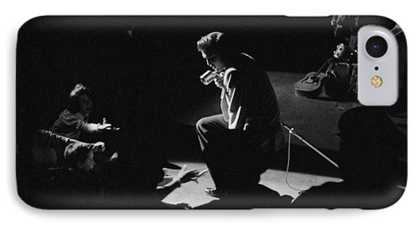 Elvis Presley On Stage At The Fox Theater In Detroit 1956 IPhone Case by The Harrington Collection