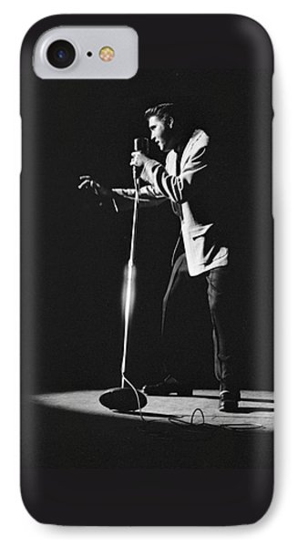 Elvis Presley On Stage In Detroit 1956 IPhone Case by The Harrington Collection
