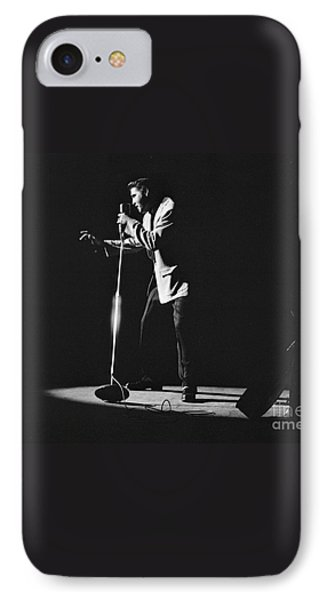 Elvis Presley On Stage In Detroit 1956 IPhone 7 Case by The Harrington Collection