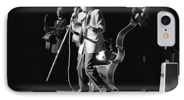 Elvis Presley On Stage With Scotty Moore And Bill Black 1956 IPhone Case by The Harrington Collection