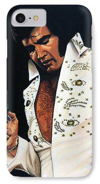 The iPhone 7 Case - Elvis Presley Painting by Paul Meijering