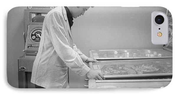 Elvis Presley Playing Pinball 1956 IPhone 7 Case