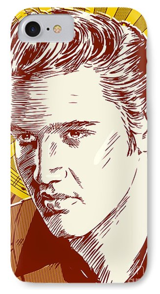 Elvis Presley Pop Art IPhone Case by Jim Zahniser