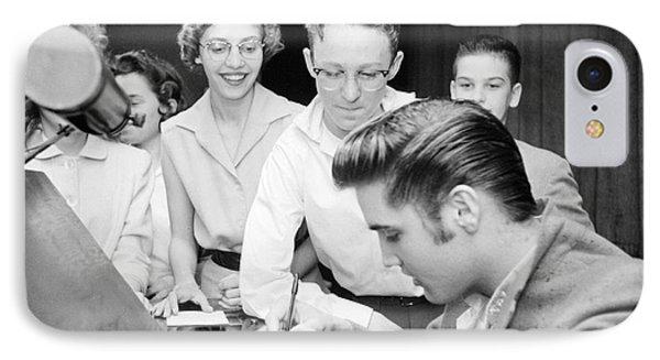 Elvis Presley Signing Autographs For Fans 1956 IPhone Case