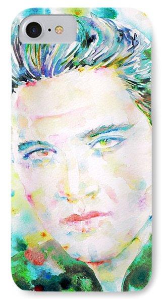 Elvis Presley Watercolor Portrait.2 IPhone Case by Fabrizio Cassetta