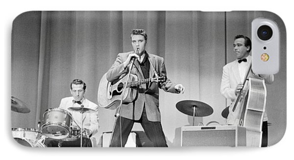 Elvis Presley With D.j. Fontana And Bill Black 1956 IPhone Case
