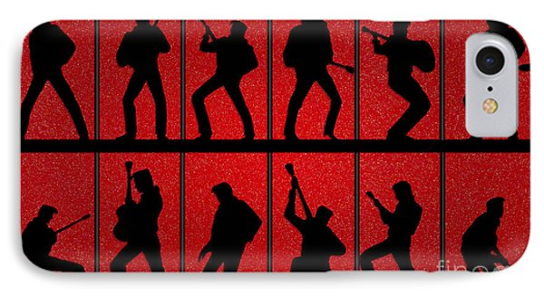 Elvis Silhouettes Comeback Special 1968 IPhone Case by Liz Leyden