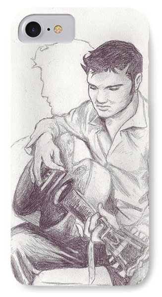 Elvis Sketch IPhone Case by Samantha Geernaert