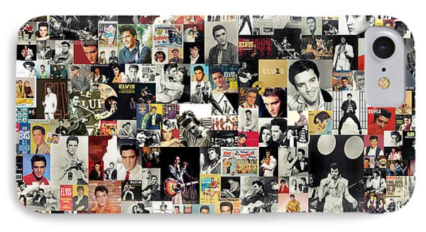 Rhythm And Blues iPhone 7 Case - Elvis The King by Zapista