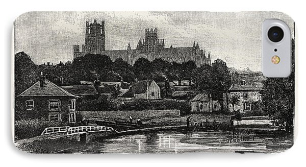 Ely Cathedral, From The River IPhone Case