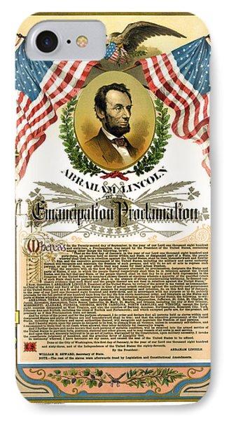 Emancipation Proclamation Tribute 1888 Phone Case by Daniel Hagerman