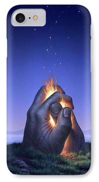 Embers Turn To Stars IPhone Case by Jerry LoFaro