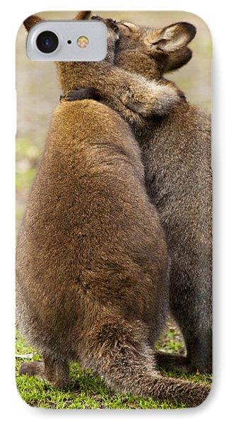 Kangaroo iPhone 7 Case - Embrace by Mike  Dawson