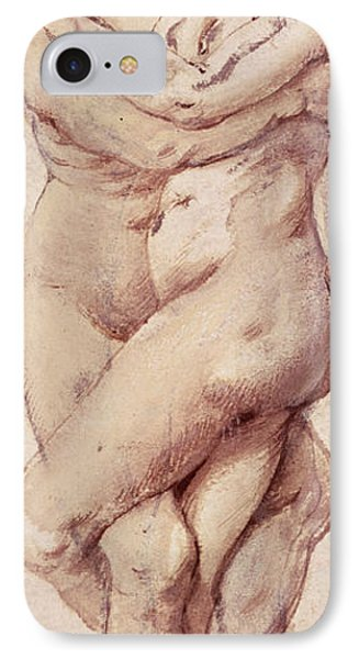 Embracing Couple IPhone Case by Rubens