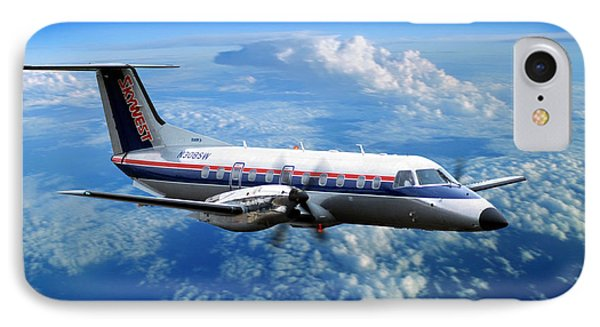 Embraer Emb-120er Braslia Skywest  IPhone Case by Wernher Krutein