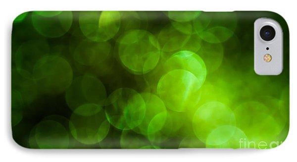 Emerald Bokeh Phone Case by Jan Bickerton