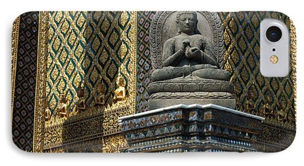 Emerald Buddha, Wat Phra Keo, Bangkok IPhone Case by Panoramic Images