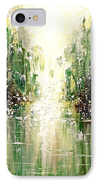 IPhone Case featuring the painting Emerald City Falls by Patricia Lintner