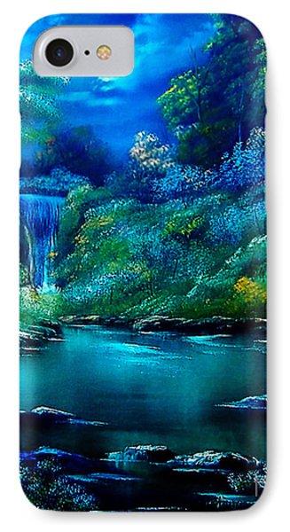 Emerald Falls 2 Phone Case by Cynthia Adams