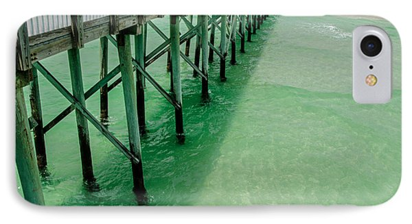IPhone Case featuring the photograph Emerald Green Tide  by Susan  McMenamin