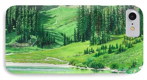 Emerald Lake IPhone Case by Barbara Jewell