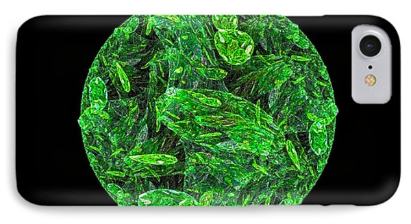 IPhone Case featuring the digital art Emerald Moon by R Thomas Brass