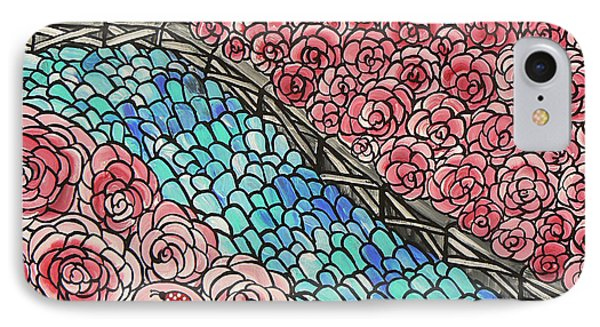 Emerald River Roses Phone Case by Barbara St Jean