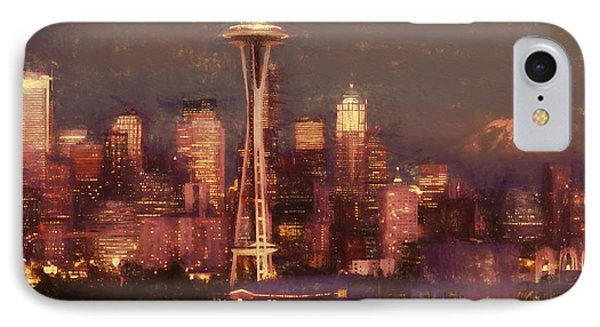 IPhone Case featuring the painting Emerald Twilight by Douglas MooreZart