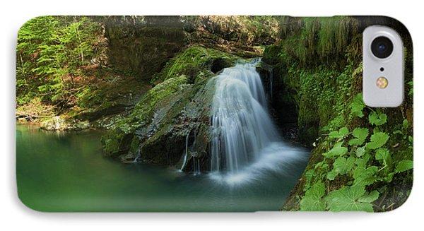 Emerald Waterfall IPhone Case