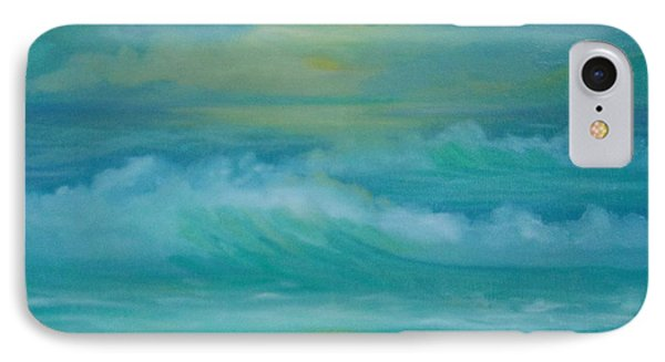 IPhone Case featuring the painting Emerald Waves by Holly Martinson