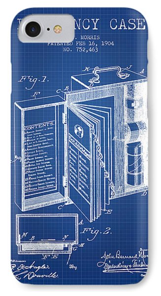 Emergency Case Patent From 1904 - Blueprint IPhone Case by Aged Pixel